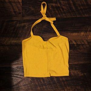 Pacsun mustard yellow halter top